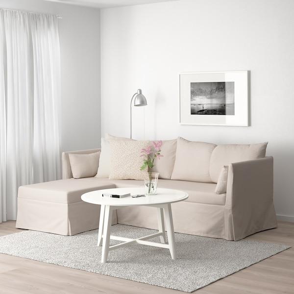 SANDBACKEN corner sofa, 3-seat Lofallet beige 212 cm 69 cm 78 cm 149 cm 70 cm 33 cm