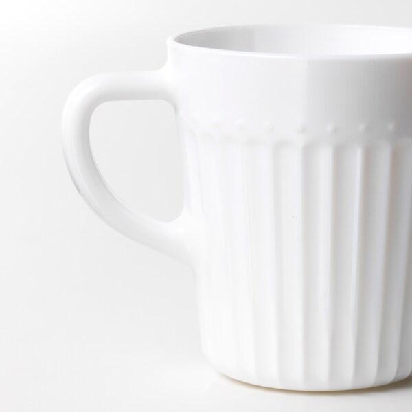 SANNING Mug, white, 25 cl