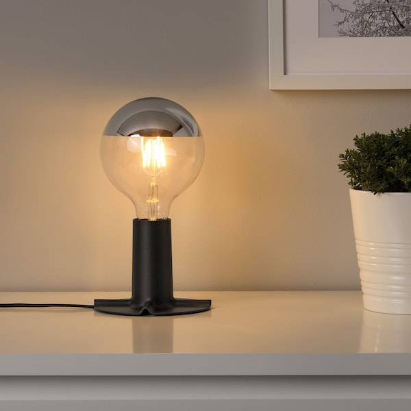 SILLBO LED bulb E27 370 lumen globe/mirrored top silver coloured 370 lm 2200 K 125 mm 4 W