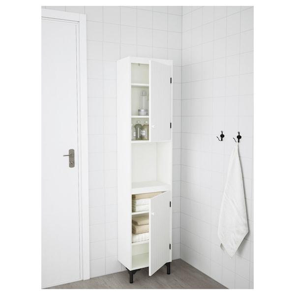 SILVERÅN High cabinet with 2 doors, white, 40x25x184 cm