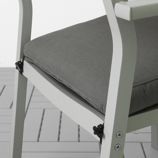 SJÄLLAND table+4 chairs w armrests, outdoor dark grey/Frösön/Duvholmen dark grey 156 cm 90 cm 73 cm