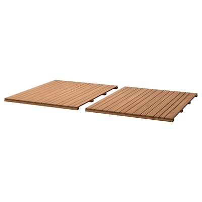 SJÄLLAND table top, outdoor light brown 85 cm 72 cm 2.8 cm 2 pack