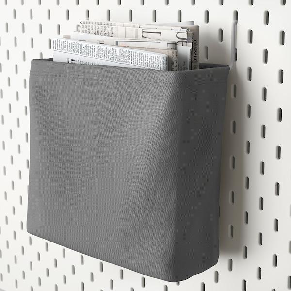 SKÅDIS storage bag white/grey 24.5 cm 9 cm 22 cm