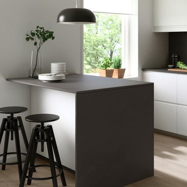 SKARARP Custom made worktop, matt black/stone effect ceramic, 1 m²x2.0 cm