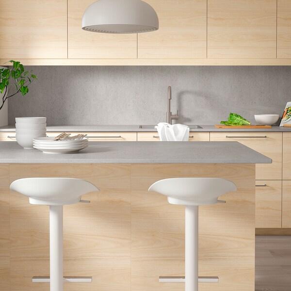 SKARARP Custom made worktop, matt concrete effect/ceramic, 1 m²x2.0 cm
