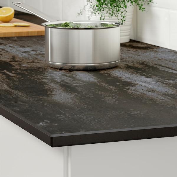 SKARARP Custom made worktop, matt grey/brown/concrete effect ceramic, 1 m²x2.0 cm