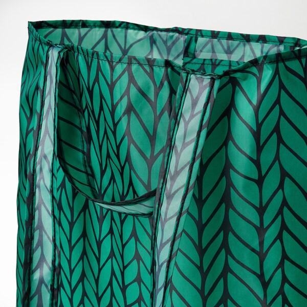 SKYNKE Carrier bag, green/black, 45x36 cm