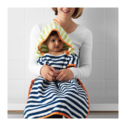 SLAPPA Towel with hood IKEA A terry cloth with a hood for babies and toddlers.
