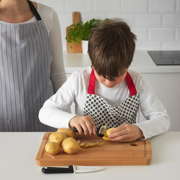 SMÅBIT knife and peeler black/white