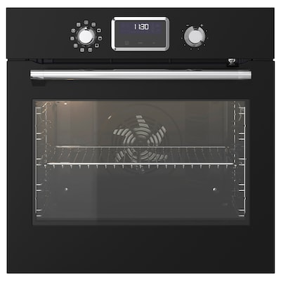SMAKSAK Forced air oven w pyrolytic funct, black