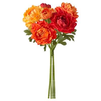 SMYCKA artificial bouquet in/outdoor/Ranunculus orange 33 cm