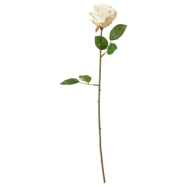 SMYCKA Artificial flower, Rose/white, 52 cm