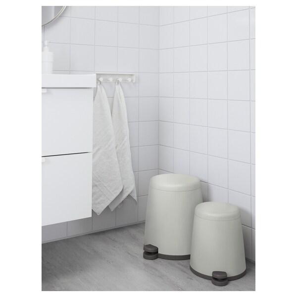 SNÄPP Pedal bin, white, 12 l