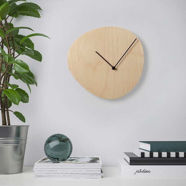 SNAJDARE wall clock birch plywood 2.3 cm 28 cm