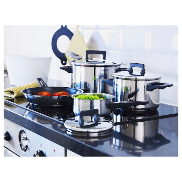 SNITSIG 7-piece cookware set stainless steel