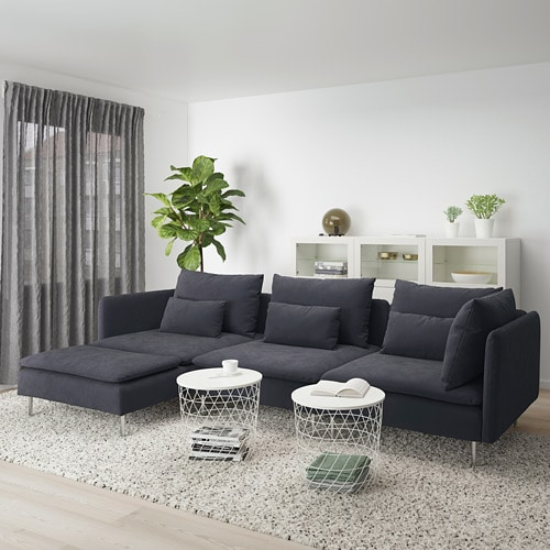 Soderhamn Ikea Hoekbank.Soderhamn 4 Seat Sofa With Chaise Longue Samsta Dark Grey