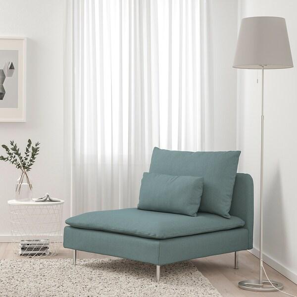 SÖDERHAMN 1-seat section, Finnsta turquoise
