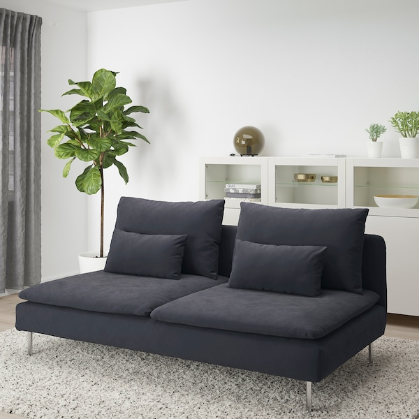 SÖDERHAMN 3-seat section, Samsta dark grey