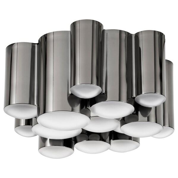 SÖDERSVIK LED ceiling lamp dimmable/black chrome-plated 2700 K 850 lm 8.5 cm 21 cm 15.5 W