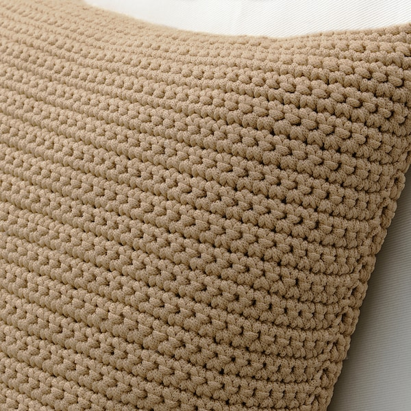 SÖTHOLMEN Cushion cover, in/outdoor, light beige, 50x50 cm