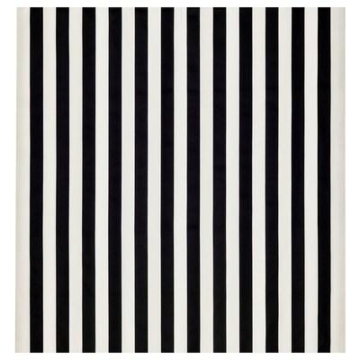 SOFIA Fabric, broad-striped/black/white, 150 cm
