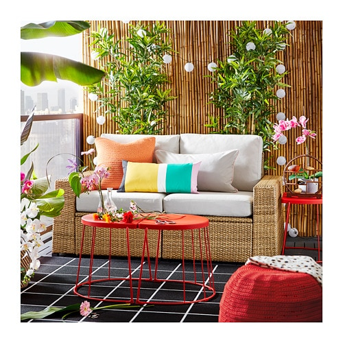 Divano In Rattan Ikea.Solleron 2 Seat Modular Sofa Outdoor Brown Froson Duvholmen Beige