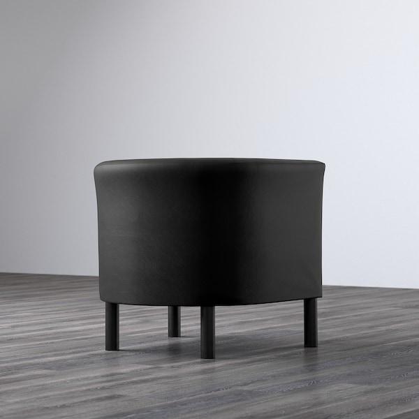 SOLSTA OLARP Armchair, Idhult black