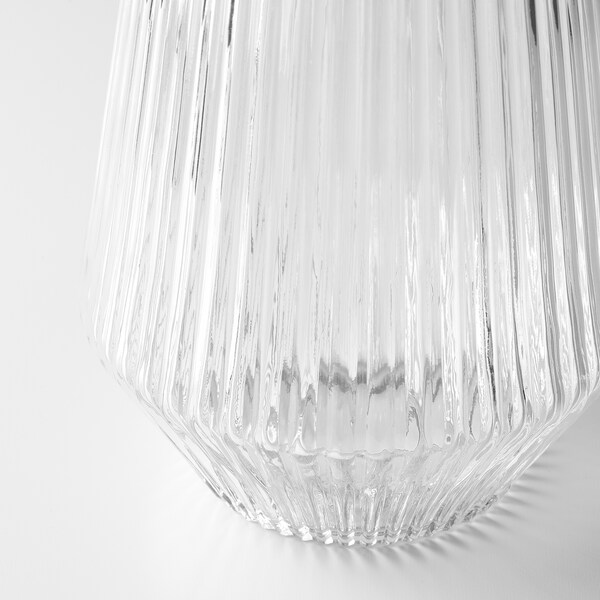 SOLVINDEN LED lighting outdoor/battery-operated clear glass 24 cm 15 cm