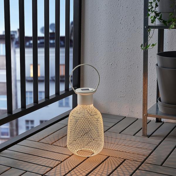 SOLVINDEN LED solar-powered lantern outdoor/mesh white 1 lm 16 cm 29 cm