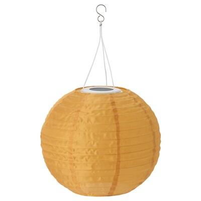 SOLVINDEN LED solar-powered pendant lamp outdoor/globe gold-colour 2 lm 30 cm 26 cm 26 cm