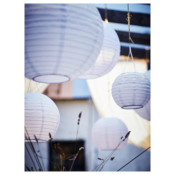 SOLVINDEN LED solar-powered pendant lamp outdoor/globe white 3 lm 22 cm 19 cm 19 cm