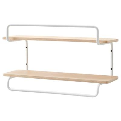 SPORTSLIG Wall shelf for trophies, white/birch, 50x30 cm
