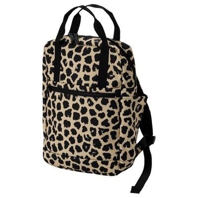 STARTTID Backpack, black/yellow, 12 l