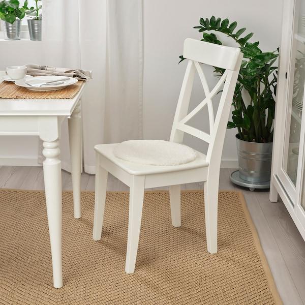 STEIVOR Sheepskin chair pad, off-white, 35 cm