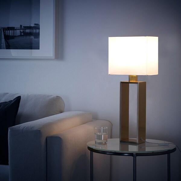 STILTJE Table lamp, off-white/brass-colour