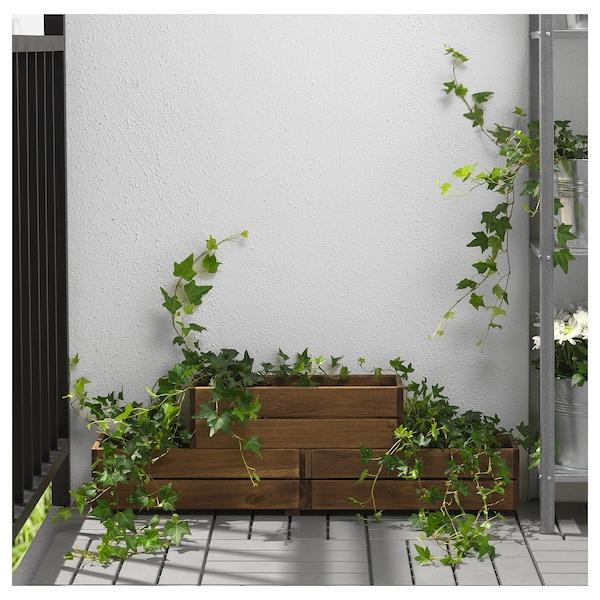 STJÄRNANIS flower box outdoor acacia 43 cm 15 cm 14 cm