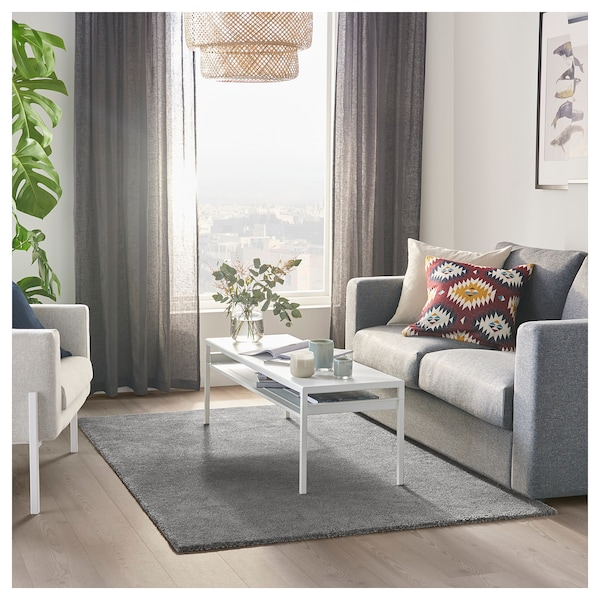 STOENSE rug, low pile medium grey 195 cm 133 cm 18 mm 2.59 m² 2560 g/m² 1490 g/m² 15 mm
