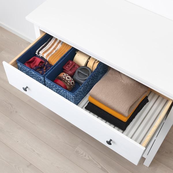 STORSTABBE Box, blue/white, 20x37x15 cm