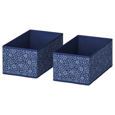 STORSTABBE box blue/white 20 cm 37 cm 15 cm 2 pack