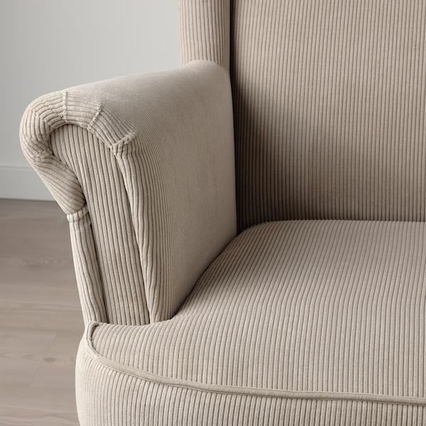 STRANDMON Wing chair, Kelinge beige