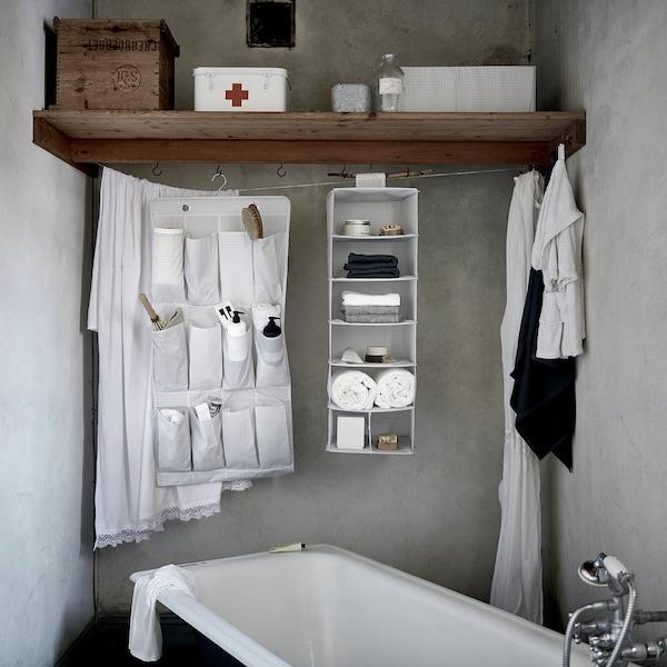 STUK storage with 7 compartments white/grey 30 cm 30 cm 90 cm