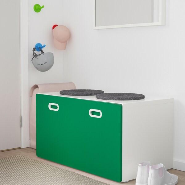STUVA / FRITIDS bench with toy storage white/green 90 cm 50 cm 50 cm