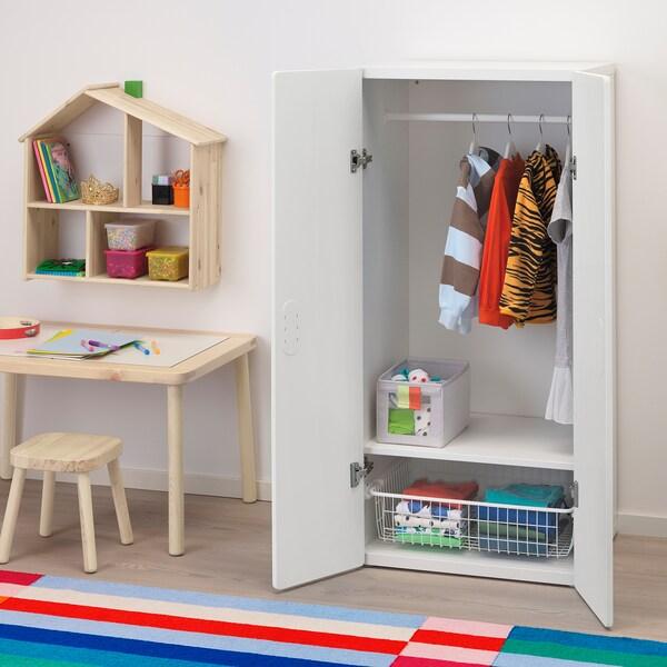 STUVA / FRITIDS wardrobe white/white 60 cm 50 cm 128 cm