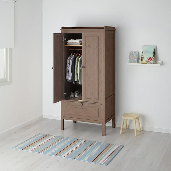 SUNDVIK Wardrobe, grey-brown, 80x50x171 cm