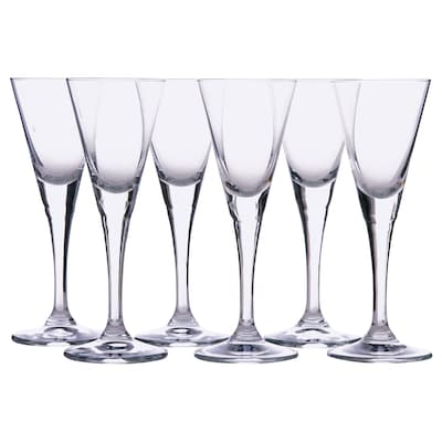 SVALKA snaps glass clear glass 14 cm 4 cl 6 pack