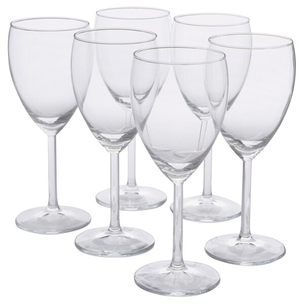 SVALKA white wine glass clear glass 18 cm 25 cl 6 pack