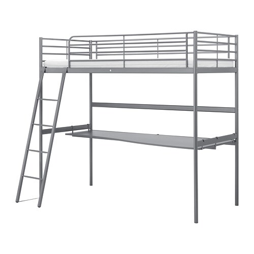 Wonderbaarlijk SVÄRTA Loft bed frame with desk top - IKEA OO-26