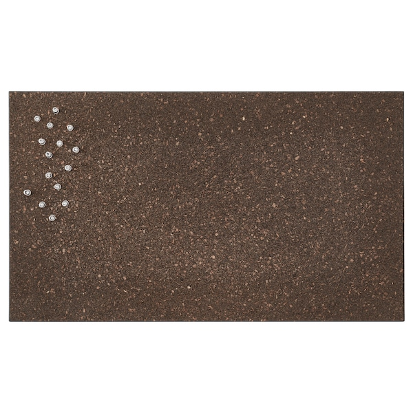 SVENSÅS memo board with pins cork dark brown 60 cm 35 cm