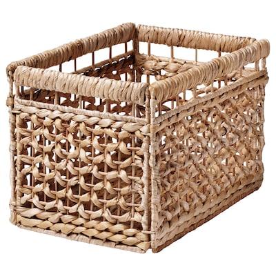 TÄTING Basket, water hyacinth/natural, 35x25x25 cm