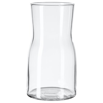 TIDVATTEN vase clear glass 17 cm